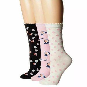 🆕 Kate Spade New York 3-Pair Crew / Trouser Socks